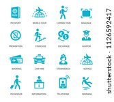 airport icons set | Shutterstock .eps vector #1126592417