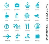 airport icons set | Shutterstock .eps vector #1126592747