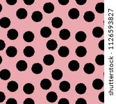polka dot seamless pattern with ... | Shutterstock .eps vector #1126593827
