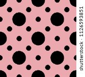 polka dot seamless pattern with ... | Shutterstock .eps vector #1126593851