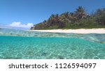 half underwater  paradise... | Shutterstock . vector #1126594097