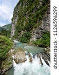 mountain river in abkhazia ... | Shutterstock . vector #1126596299