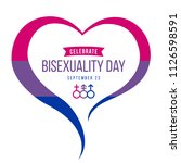celebrate bisexuality day... | Shutterstock .eps vector #1126598591