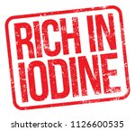 rich in iodine. vector red...   Shutterstock .eps vector #1126600535