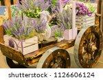 Wheelbarrow With Wooden Boxes...