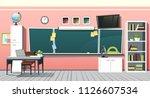 school classroom class room... | Shutterstock .eps vector #1126607534