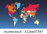 color world map vector | Shutterstock .eps vector #1126607597