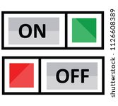 electric switch on off | Shutterstock .eps vector #1126608389