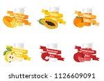 fruit juice vector | Shutterstock .eps vector #1126609091