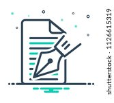 colorful icon for editorial notes | Shutterstock vector #1126615319