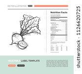 vector concept of fresh healthy ... | Shutterstock .eps vector #1126620725