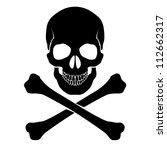 raster version. skull and... | Shutterstock . vector #112662317