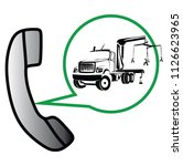 call center for road assistance | Shutterstock .eps vector #1126623965