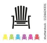 adirondack deck chair vector... | Shutterstock .eps vector #1126624331