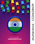 indian independence day holiday ... | Shutterstock .eps vector #1126628639