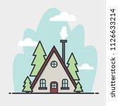 vector illustration house. flat ... | Shutterstock .eps vector #1126633214