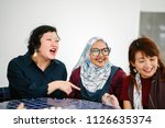 a diverse group of asian women... | Shutterstock . vector #1126635374