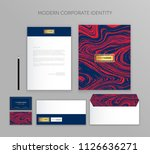 corporate identity business set.... | Shutterstock .eps vector #1126636271
