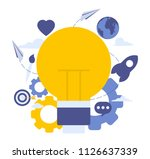 vector illustration of creative ... | Shutterstock .eps vector #1126637339