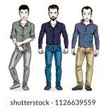 handsome men standing wearing... | Shutterstock .eps vector #1126639559