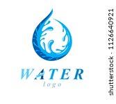 freshwater conceptual blue...   Shutterstock .eps vector #1126640921