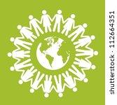 illustration of ecological... | Shutterstock .eps vector #112664351