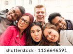 funny faces by friends  college ... | Shutterstock . vector #1126646591