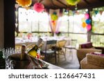 first birthday party of a baby... | Shutterstock . vector #1126647431