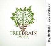 tree brain concept  the wisdom...   Shutterstock .eps vector #1126648334