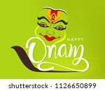 happy onam background south... | Shutterstock .eps vector #1126650899