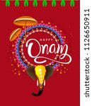 happy onam background south... | Shutterstock .eps vector #1126650911