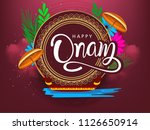 happy onam background south... | Shutterstock .eps vector #1126650914