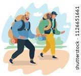vector cartoon illustration of... | Shutterstock .eps vector #1126651661