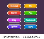 game ui set of buttons. gui to... | Shutterstock .eps vector #1126653917