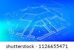 architecture design  blueprint... | Shutterstock .eps vector #1126655471