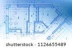 architecture design  blueprint... | Shutterstock .eps vector #1126655489