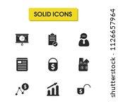 work icons set with money...