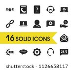 support icons set with link ...