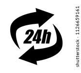 24h call center   help icon ... | Shutterstock .eps vector #1126659161