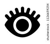 vector eyelashes illustration.... | Shutterstock .eps vector #1126659254
