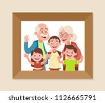 grandparents and grandchildren... | Shutterstock .eps vector #1126665791