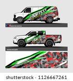 car decal design vector.... | Shutterstock .eps vector #1126667261