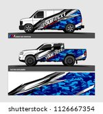 car decal design vector....   Shutterstock .eps vector #1126667354