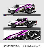car decal graphic design vector.... | Shutterstock .eps vector #1126673174