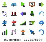 colored vector icon set  ... | Shutterstock .eps vector #1126675979