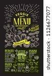 veggie menu for restaurant.... | Shutterstock .eps vector #1126677077