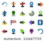 colored vector icon set  ... | Shutterstock .eps vector #1126677725