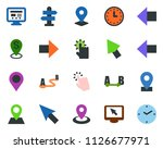 colored vector icon set  ... | Shutterstock .eps vector #1126677971