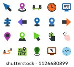 colored vector icon set  ... | Shutterstock .eps vector #1126680899