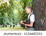 portrait of a female student ... | Shutterstock . vector #1126682231